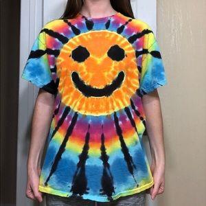 Tie dye smiley tshirt